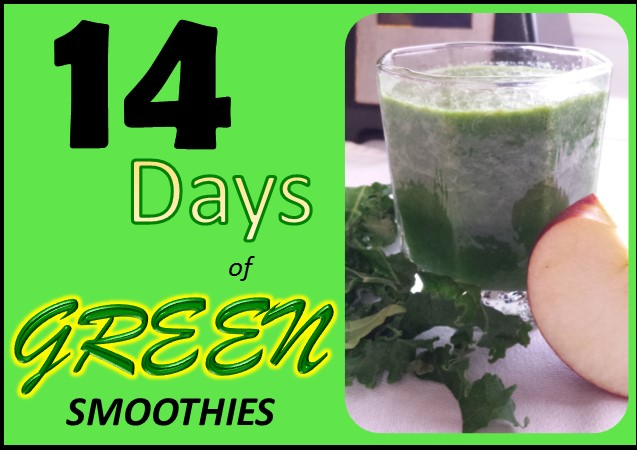14 days of smoothies graphic
